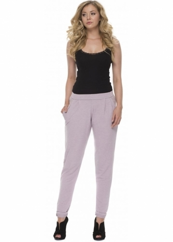 A Postcard From Brighton Lola Sweat Pant Style Casual Chillings Pants In Cameo