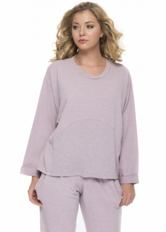 A Postcard From Brighton Betty Loose Fit Sweat Top In Cameo