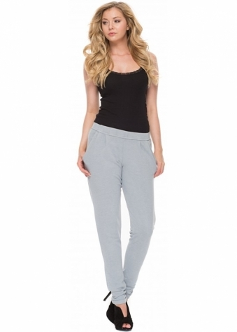 A Postcard From Brighton Lola Sweat Pant Style Casual Chillings Pants In Piano Grey