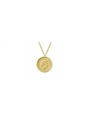Sparkling Jewellery  Premium 22ct Gold Single Coin Necklace