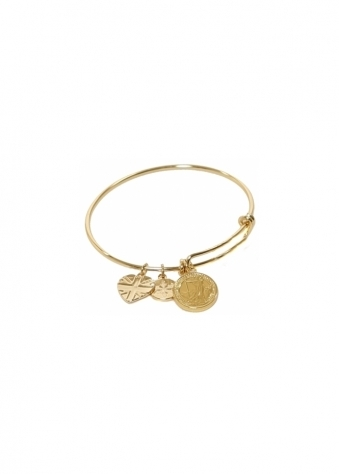 Sparkling Jewellery  The Iconic Charm Bangle In 22ct Gold