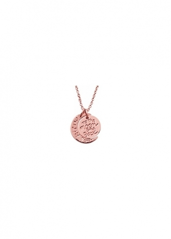 Sparkling Jewellery  To The Moon & Back Rose Gold Necklace