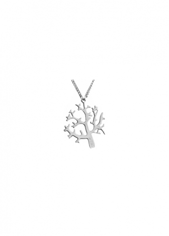 Sparkling Jewellery Full Silver Tree Of Life Necklace