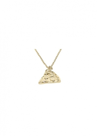 New Gold Pizza Slice Friendship Necklace