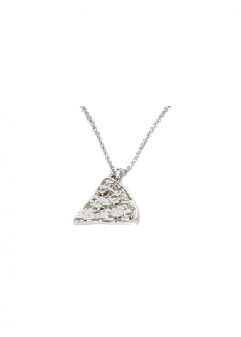 Sparkling Jewellery New Silver Pizza Slice Friendship Necklace