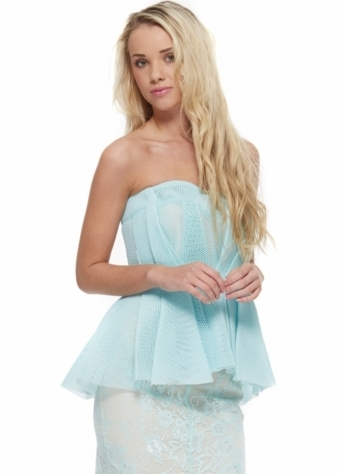 Sea Mist Light Up The Sky Boned Corset Top