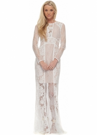 The Jetset Diaries Escape Dress In White Lace As Seen On Lauren Pope