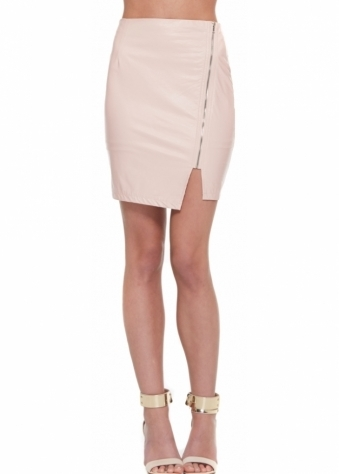 Designer Desirables Baby Pink Side Zip Mini Skirt