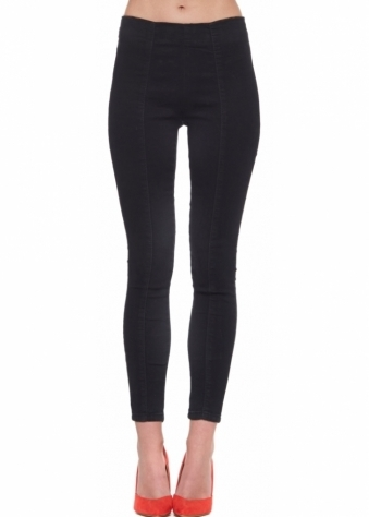 Designer Desirables Black Stretch Fit High Waisted Ankle Grazer Jeans