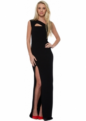 Honor Gold Lexi Strappy Black Maxi Dress