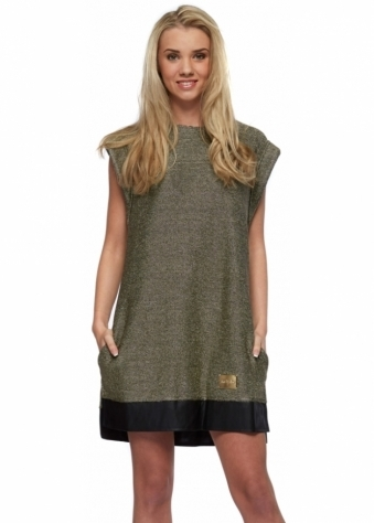 Kassie Gold Chain Mail Effect Mini Shift Dress