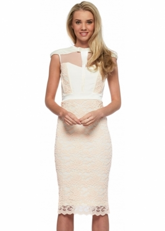 Tempest Hunter Dress In Cream With Blossom Lace
