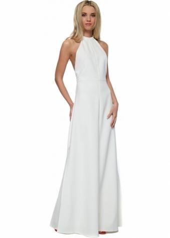 Jarlo Fabia Ivory Halterneck Maxi Dress