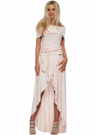 Just Unique Mini Maxi Off The Shoulder Cherie Dress In Pink