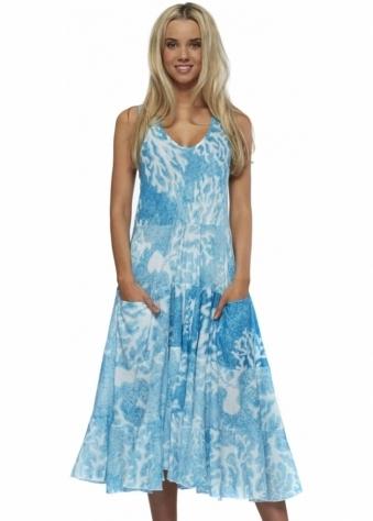 Antica Sartoria Sleeveless Cotton Swing Dress With Pockets