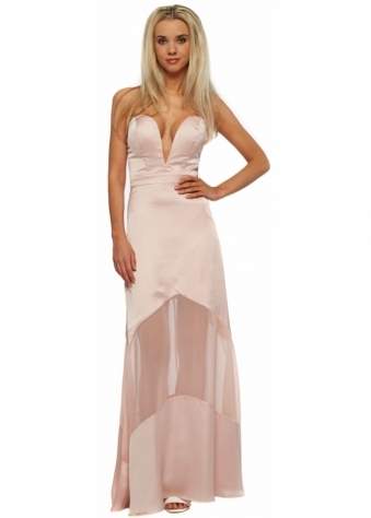 Elizabeth Maxi Dress In Blush Pink