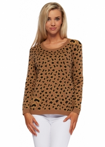 Tiger Print Cotton Knit Jumper