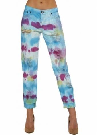 One Teaspoon Sorbet Tie Dye Baggies Jeans
