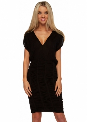 Dress Devaux Ruched Knitted Body