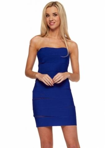 Forever Unique Selfish Peek Blue Bandage Bodycon Dress