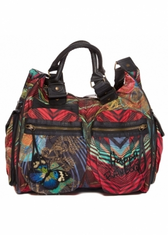 Desigual Multicoloured Chunky Large Top Handle Tote Bag