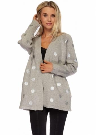 Chunky Knit Grey Cardigan
