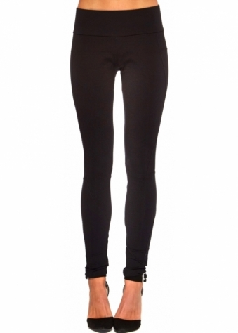 Twisted Muse Stella Black Stretch Thick Jersey Leggings