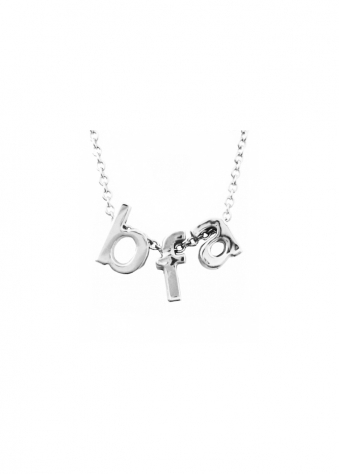 3D Letter Necklace BFA Best Friend Always In Silver