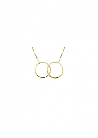 The Icoinic Two Ring Necklace In Gold
