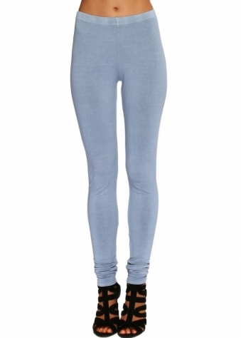 A Postcard From Brighton Paris Grey Stretch Fit Jersey Leggings