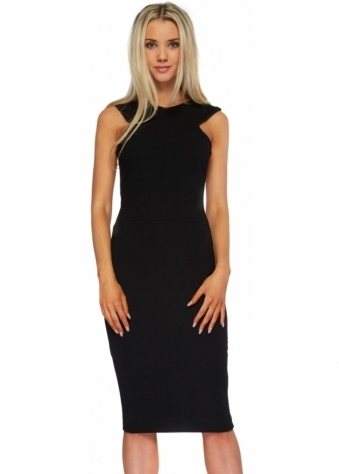 Honor Gold Nikki Sleeveless Pencil Dress In Black
