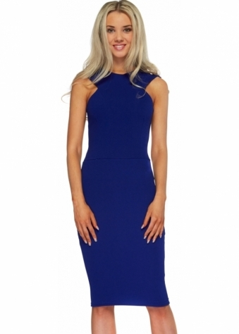 Honor Gold Nikki Sleeveless Pencil Dress In Blue