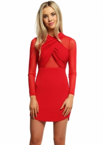 Ginger Fizz Cross My Heart Red Mini Dress