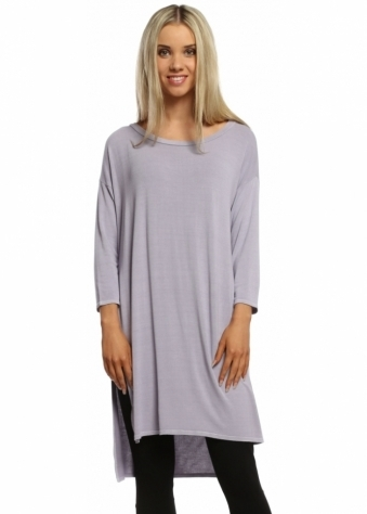A Postcard From Brighton Glacier Lilac Flavia Flighty Split Side Slouch Top