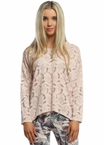 A Postcard From Brighton Lottie Nude Karma Lace Long Sleeved Top