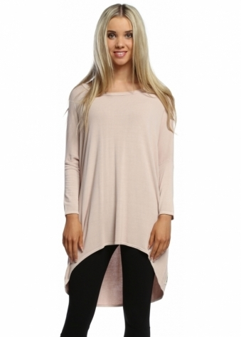 A Postcard From Brighton Fudge Flirty Dip Hem Slouch Top