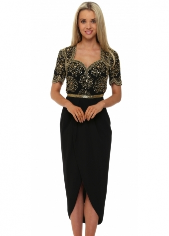 Virgos Lounge Black Aspen Midi Dress