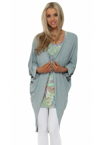 A Postcard From Brighton Shelly Bay Mojito Melange Draped Cardigan
