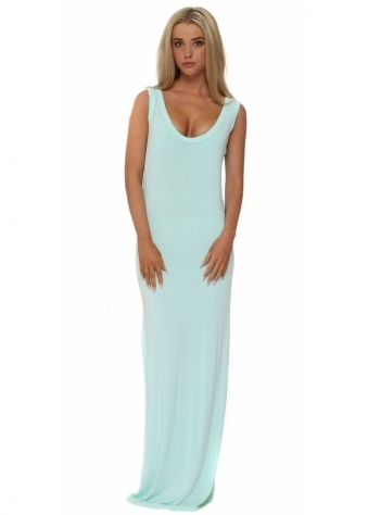 A Postcard From Brighton Mojito Jersey Sleeveless Maxi Dress