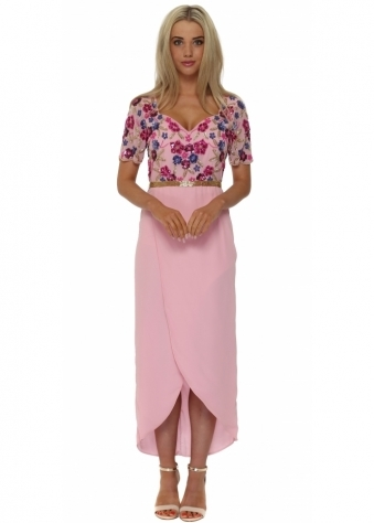 Viola Pink Wrap Front Dress