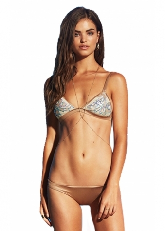 Beach Bunny Crystal Seas Bikini In Bronze