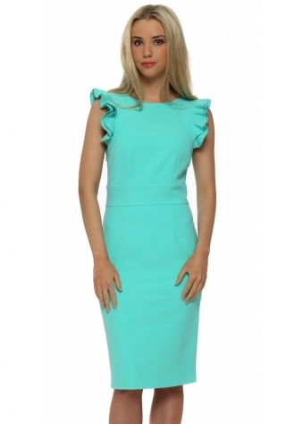 Waterford Pencil Dress In Mint