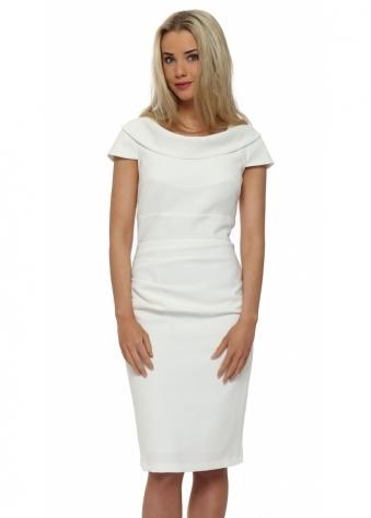 Eden Row Virginia Cream Pencil Dress