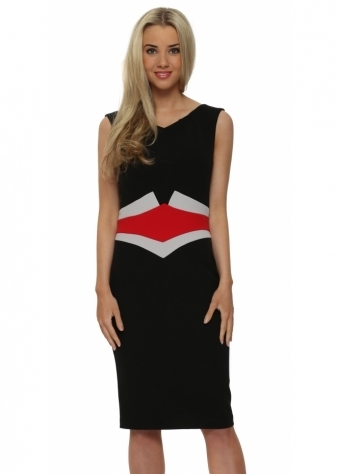 Eden Row Hamilton Black Pencil Dress