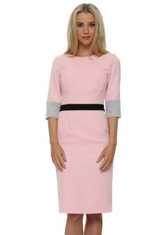 Summerhill Pink 3/4 Sleeve Pencil Dress