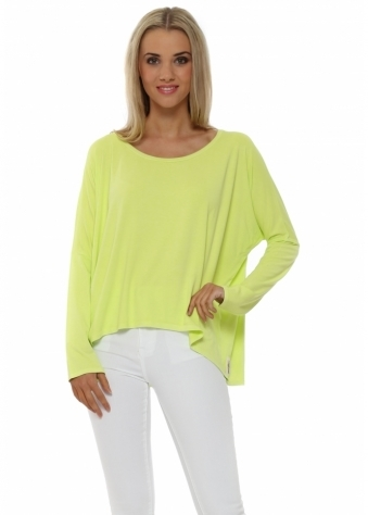 A Postcard From Brighton Karma Slouch Top In Citrus