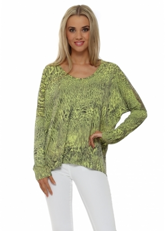 A Postcard From Brighton Stephie Citrus Super Natural Chiffon Back Top