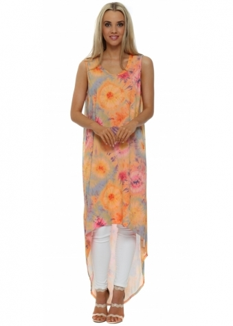 A Postcard From Brighton Britt Coral Boho Tie Dye Maxi Dress Top