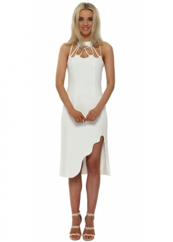 Zenith Midi Dress In White