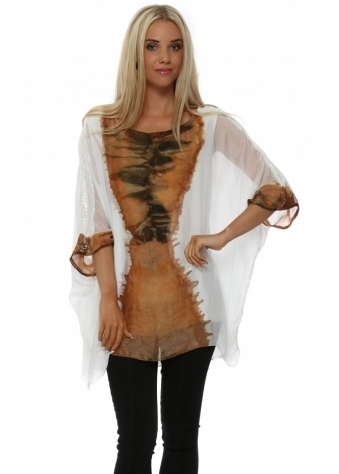 Italian Boutique Amber Watercolour Sequinned Top